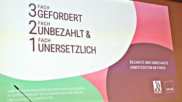 Die gemeinsame Fachtagung von Deutschem Fraauenrat und ver.di nahme bezahlte und unbezahlte Arbeitszeiten in den Fokus