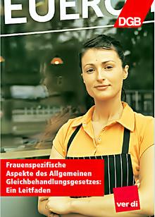 """Cover zum Leitfaden """"Frauenspezifische Aspekte des AGG"""" (DGB, 2015)"""
