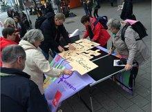 Aktion der ver.di Frauen Hamburg zum Tag der Entgeltgleichheit