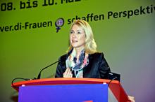 Manuela Schwesig bei der 4. ver.di-Bundesfrauenkonferenz