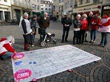 """Bodenzeitung für """"Aufwertung jetzt"""" (Aktion der ver.di-Frauen in Bonn)"""