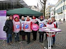 """ver.di-Frauen in Bonn für """"Aufwertung jetzt!"""""""