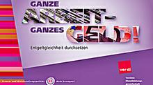 """Titelbild Faltblatt """"Ganze Arbeit - Ganzes Geld!"""""""