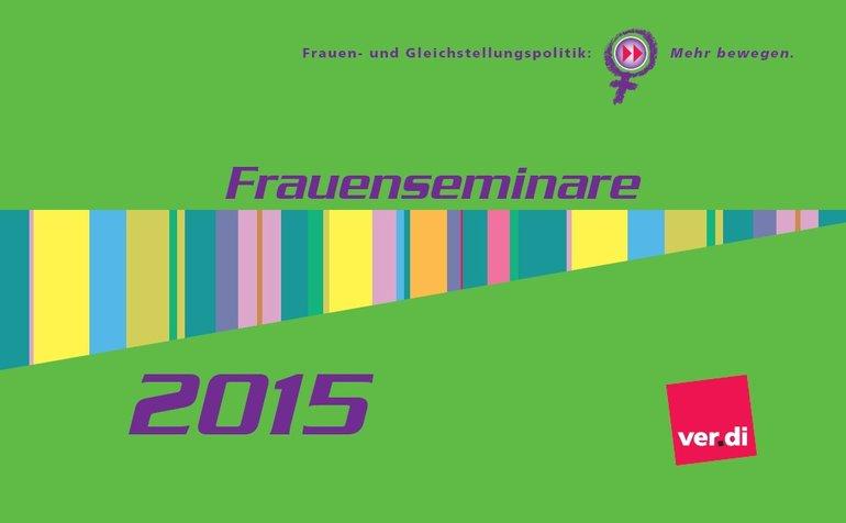 Faltblatt zu den bildungspolitischen Veranstaltungen für Frauen.