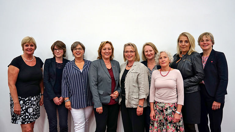 Die Partnerinnen im Frauen-Bündnis gegen Altersarmut