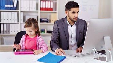 Vereinbarkeit Homeoffice Vater Kind Work Life