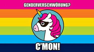 Gender Verschwörung Einhorn Regenbogen