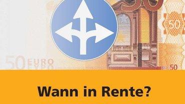"Broschüre ""Wann in Rente?"" Cover"
