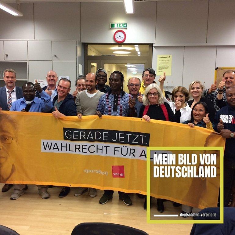Deutschland #vereint, ver.di Migration