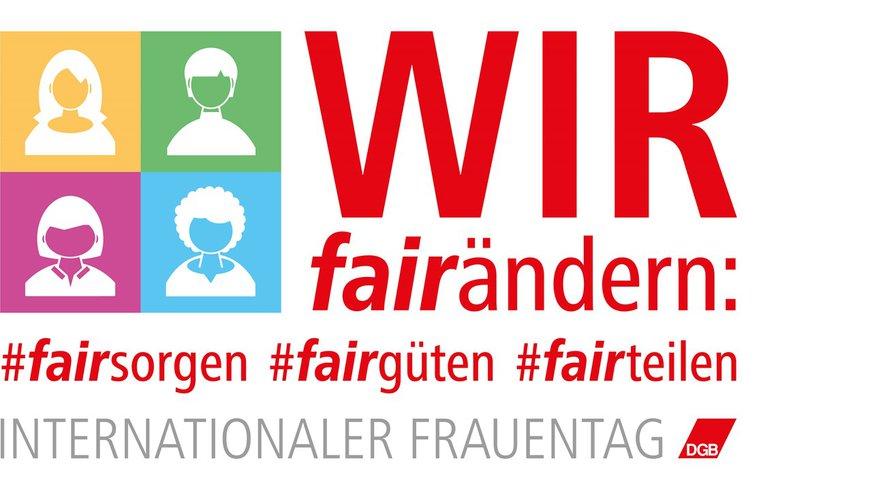 DGB Frauen IFT Frauentag 2020 Logo (alle / BÜHNE)