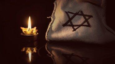 Davidstern Gedenken Kerze Judentum niemals vergessen Nazi