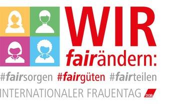 DGB Frauen IFT Frauentag 2020 Logo (fairgüten / BÜHNE)