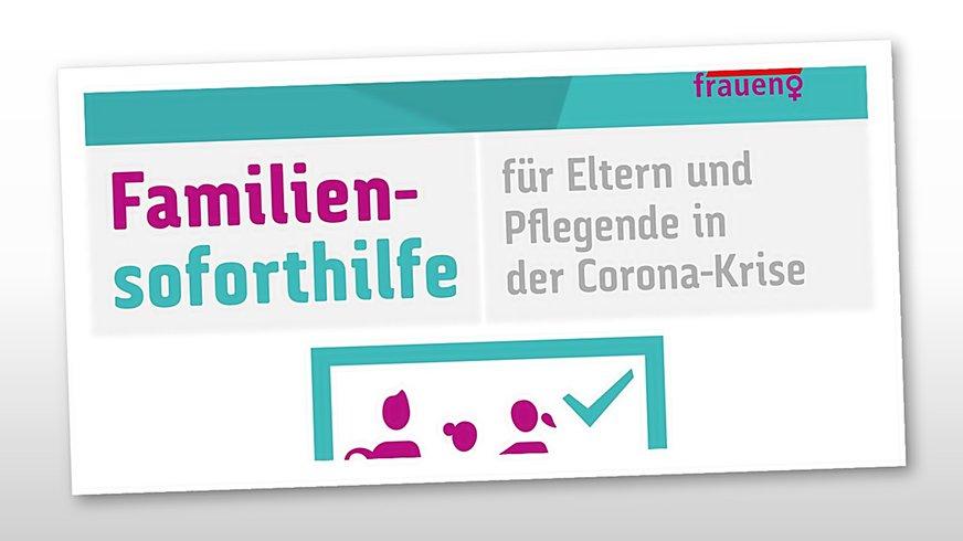 Familiensoforthilfe DGB Logo BÜHNE