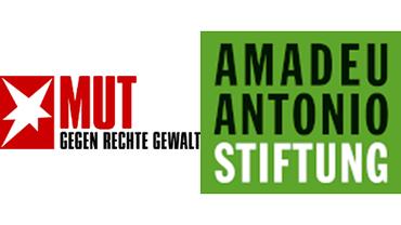 Mut gegen rechte Gewalt Amadeu Antonio Stiftung Logos