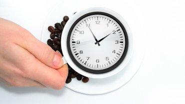 Uhr Kaffee Entspannung Pause Entlastung Arbeitszeit