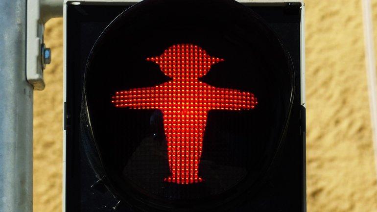 Ampelmann Ampel Stop rot
