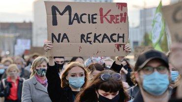 Schwangerschaft Abbruch Abtreibung schwanger Demo Body Choice Polen polnisch
