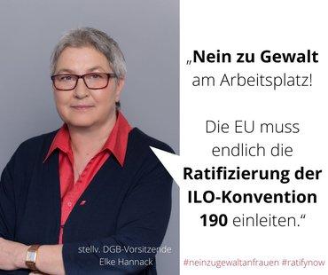 Elke Hannack, stellvertretende DGB-Vorsitzende, zum Tag der Gewalt gegen Frauen