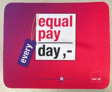 Mousepad Material Frauen Equal Pay Day Werbeartikel