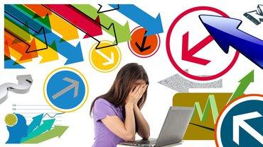 Stress Hektik Frau Arbeitsplatz Burnout
