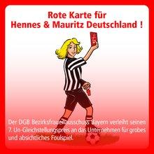 DGB Frauen Bayern rote Karte H&M 2021