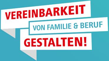 Vereinbarkeit gestalten DGB Logo