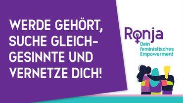Logo RONJA feministisches Empowerment