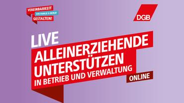 Veranstaltung Alleinerziehende Online Unterstützung Banner